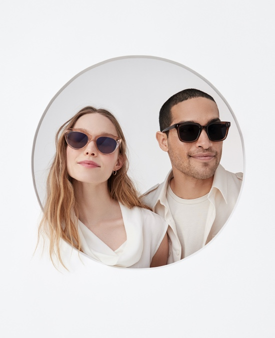 two people wearing sunglasses